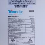 Trina 295w 72 cell Modules